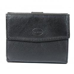 Dámska kožená peňaženka 586 čierna, Čierna