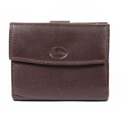 Dámska kožená peňaženka 586 hnedá, Hnedá