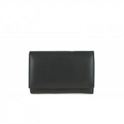 Dámska kožená peňaženka 597 čierna, čierna