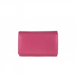 Dámska kožená peňaženka 597 fuxia, fuxia