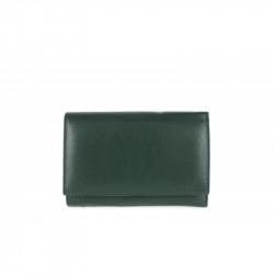 Dámska kožená peňaženka 597 zelená, zelená