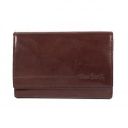 Dámska kožená peňaženka P076 PSP01 PIERRE CARDIN, Hnedá
