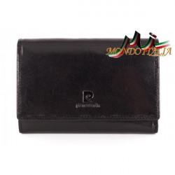 Dámska kožená peňaženka P076 PSP02 PIERRE CARDIN, Čierna