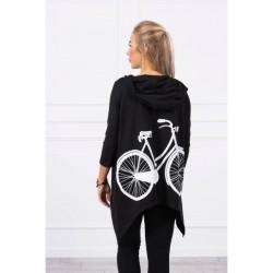 Dámska mikina s potlačou bicykla MI9139 čierna Univerzálna Čierna