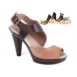Dámske kožené sandále 1131 béžové Andiamo, Béžová, 38