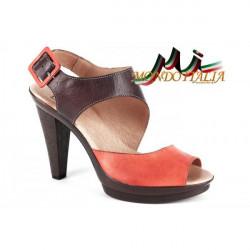 Dámske kožené sandále 1131 oranžové Andiamo, Oranžová, 36