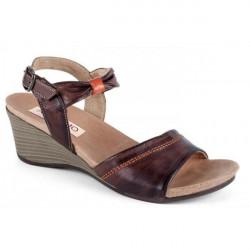 Dámske kožené sandále 1132 hnedé Andiamo, Hnedá, 36