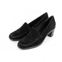 Dámske lodičky z brúsenej kože 1006 čierne Soft Breeze, Čierna, 41 #1