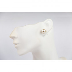 Dámske náušnice 1199 biela perleť, Biela