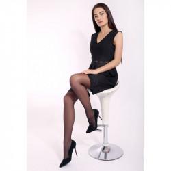 Dámske pančuchové nohavice 8253 talianskej značky Primavera International, M/L, čierna
