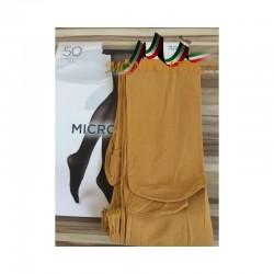 Dámske pančuchové nohavice s mikrovláknom 1469 okrové 50 DEN  1469