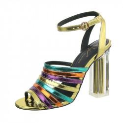Dámske sandále 161 žlté, 41, žltá