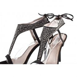Dámske sandále 316 čierne Nedline Shoes, Čierna, 40 #4
