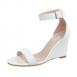 Dámske sandále na klíne 167 biele, 41, biela