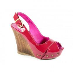Dámske sandále na klíne 635 Elisa Morelli Fuchsia 37