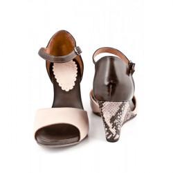 Dámske sandále na klíne 892 béžové Freemood, Béžová, 40 #2