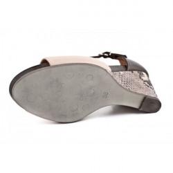 Dámske sandále na klíne 892 béžové Freemood, Béžová, 40 #3