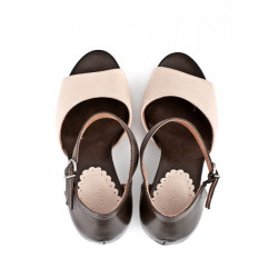 Dámske sandále na klíne 892 béžové Freemood, Béžová, 40 #4