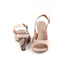 Dámske sandále na klíne 893 béžové Freemood, Béžová, 39 #2