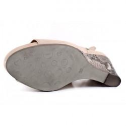 Dámske sandále na klíne 893 béžové Freemood, Béžová, 39 #4
