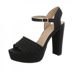 Dámske sandále na platforme 1308A čierne, 38, čierna