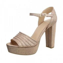 Dámske sandále na platforme 1308A Queen Tina, 38, Ružová