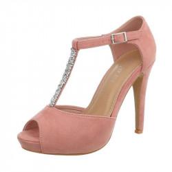Dámske sandále na platforme ružové