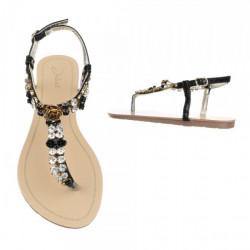 Dámske sandále s kamienkami 403 čierne Juliet, Čierna, 37 #1