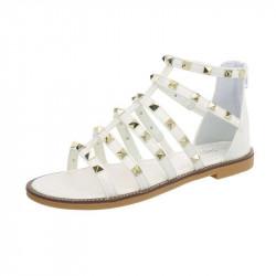Dámske trendové sandále biele
