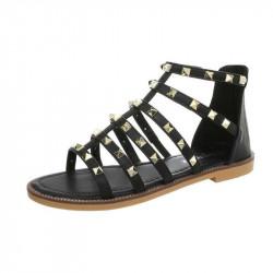 Dámske trendové sandále čierne