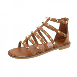 Dámske trendové sandále kamel
