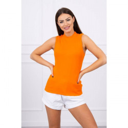 Dámske tričko bez rukávov MI8988 oranžové Univerzálna Oranžová