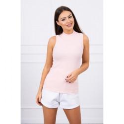 Dámske tričko bez rukávov MI8988 pudrovo ružové, Uni, Pudrová ružová