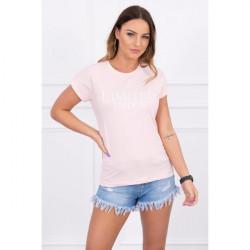 Dámske tričko LIMITED EDITION pudrovo ružové MI65296, Uni, Pudrová ružová