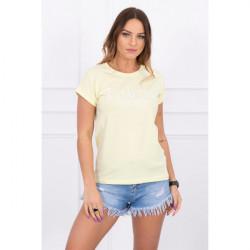 Dámske tričko LIMITED EDITION svetložlté MI65296, Uni, Žltá