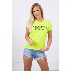 Dámske tričko LIMITED EDITION žlté MI65296, Uni, Žltá