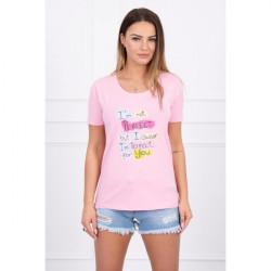 Dámske tričko PERFECT MI5406 pudrovo ružové, Uni, Pudrová ružová