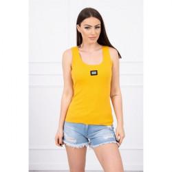 Dámske tričko s plieškom MI8986 okrové, Uni, Okrová
