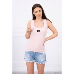 Dámske tričko s plieškom MI8986 pudrovo ružové, Uni, Pudrová ružová