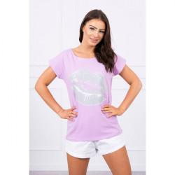 Dámske tričko s potlačou pier MI8985 fialové Univerzálna Fialová