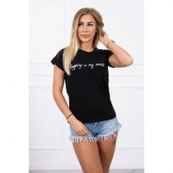 Dámske tričko SHOPPING IS MY CARDIO čirene MI65297, Uni, Čierna