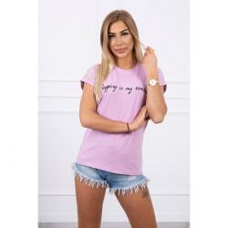 Dámske tričko SHOPPING IS MY CARDIO fialové MI65297 Univerzálna Fialová