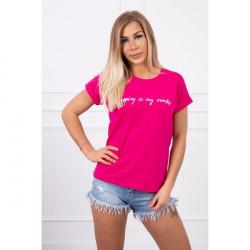 Dámske tričko SHOPPING IS MY CARDIO fuchsia MI65297, Uni, Fuchsia