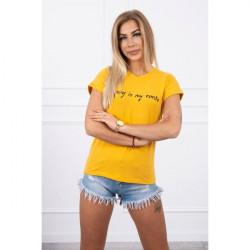 Dámske tričko SHOPPING IS MY CARDIO okrové MI65297, Uni, Okrová