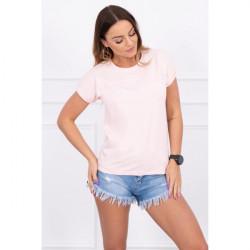 Dámske tričko SHOPPING IS MY CARDIO pudrovo ružové MI65297, Uni, Pudrová ružová