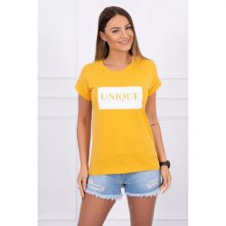 Dámske tričko UNIQUE MI65294 okrové, Uni, Okrová