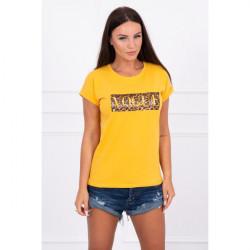 Dámske tričko VOGUE okrové MI8994, Uni, Okrová