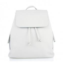 Dámsky kožený batoh 420 Made in italy biely, Biela