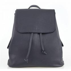 Dámsky kožený batoh 420 Made in italy modrý, Modrá