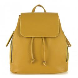 Dámsky kožený batoh 420 Made in italy okrový, Okrová